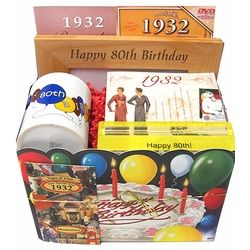 80th Birthday Gift Basket