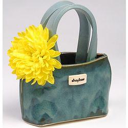 Artisan-Made Ceramic Handbag Vase