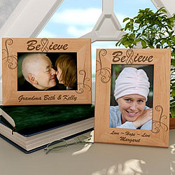 Personalized Believe Wooden Picture Frame