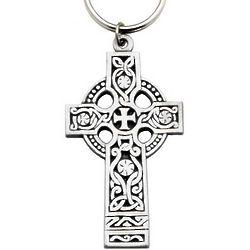 Large Celtic Cross Key Ring