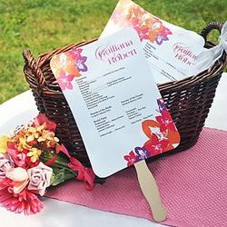 DIY Designer Fan Wedding Program Paper Kit