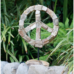 Petrified Wood Peace Symbol