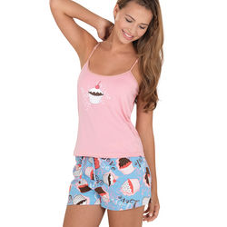 Cupcake Pajama Short Set