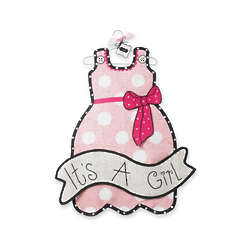 It's a Girl Dress Door Hanger