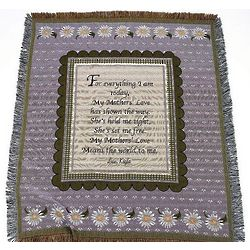 Personalized Mother's Tapestry Throw