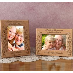Personalized A Garden of Love Wooden Picture Frame
