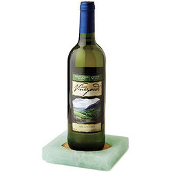 Recycled Windowpane Wine Coasters