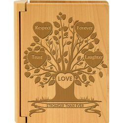Tree of Love Wooden Photo Album