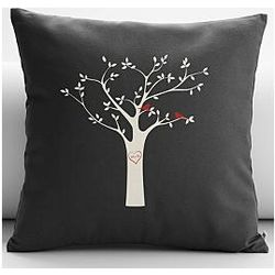 Personalized Tree Initials Throw Pillow Cover and Insert