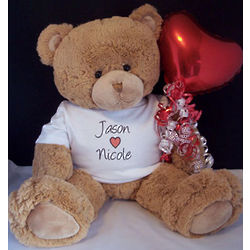 Personalized Giant Valentine Teddy Bear