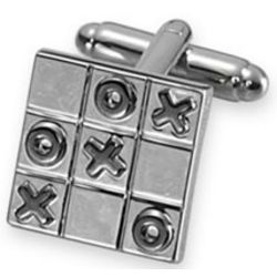 Tic-Tac-Toe Square Cufflinks