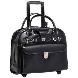 Women's Edgebrook Leather Wheeled Laptop Case