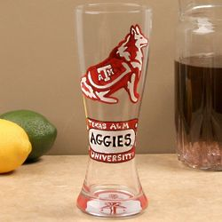 Texas A&M Aggies Hand-Painted Pilsner Glass