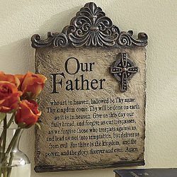 Lord's Prayer with Cross Wall Plaque