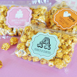 Caramel Popcorn Personalized Favors