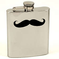 Stainless Steel Moustache Flask