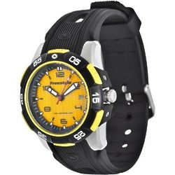 Kampus Black and Yellow Sports Watch