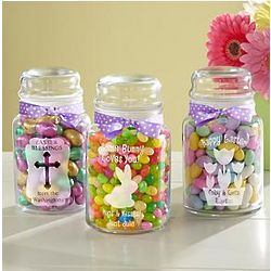 Personalized Etched Easter Candy Jar