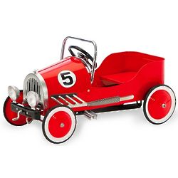 Red Retro Pedal Car Riding Toy