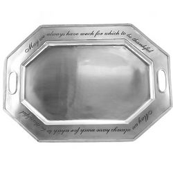 Much to be Thankful Octagonal Serving Platter