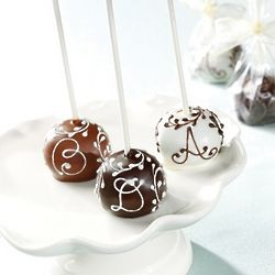 Vine and Letter Brownie Pops Favor