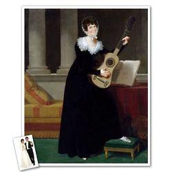 Classic Painting Musician Pauline Personalized Art Print