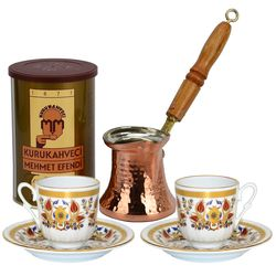 Turkish Coffee for 2 with Mehmet Efendi Coffee and Istanbul Cups