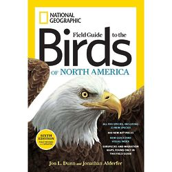 Field Guide to the Birds of North America Book, 6th Edition