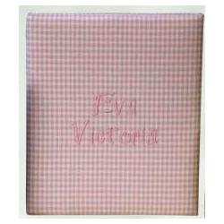 Gingham Check Personalized Baby Scrapbook