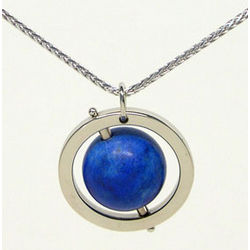 Blue Earth Lapis Lazuli Pendant Necklace