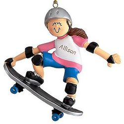 Personalized Skateboarder Ornament