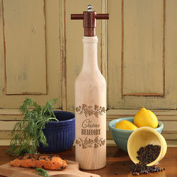 Wine Bottle Pepper Mill