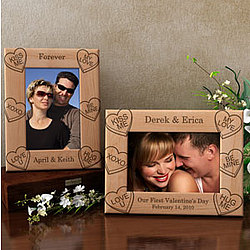 Personalized Candy Hearts Wooden Picture Frame