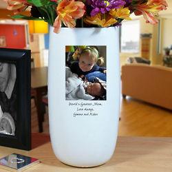 Personalized Ceramic Family Photo Vase