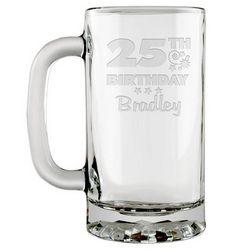 Personalized Birthday Glass Beer Mug