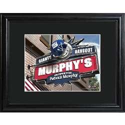 New York Giants Personalized NFL Pub Art Print