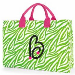 Monogrammed Bridesmaid Tote Bag