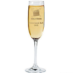 Personalized Hollywood Champagne Flute