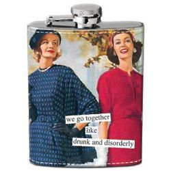 Drunk and Disorderly Hip Flask
