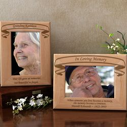 Personalized Forever In Memory Wooden Picture Frame