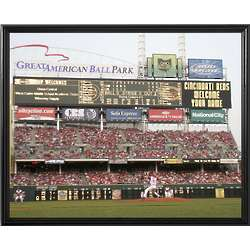 Cincinnati Reds Personalized Scoreboard 16x20 Framed Canvas