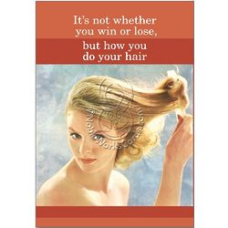 Do Your Hair Humor Birthday Greeting Card