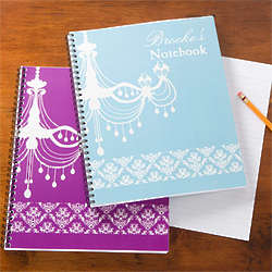 Personalized Chandelier Notebooks