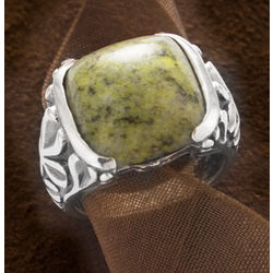 Sterling Silver Connemara Marble Ring