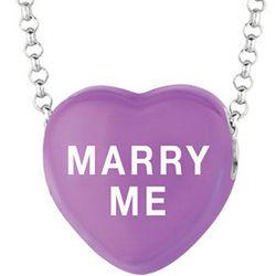 Marry Me Purple Enamel Necklace