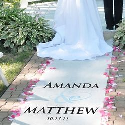 Flourish Personalized Wedding Aisle Runner