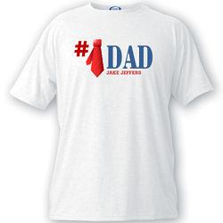 Number One Dad Necktie T-Shirt