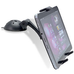 Flat Surface Tablet Car Mount with Adhesive Suction Base