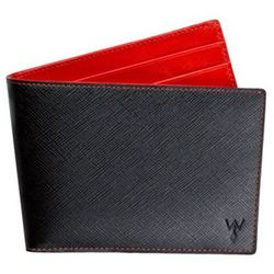 RFID Blocking Bifold Wallet with Red Lining