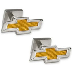 Silver Plated Chevy Logo Cufflinks
